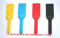 4pc Colored Ink Spatulas / Knives Used For Multi Color Offset And Screen Printing