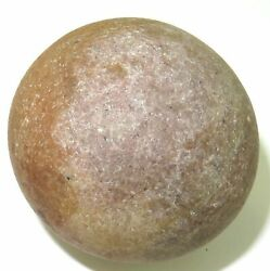 .archaic Paleo Native American Indian Round Gaming Stone.