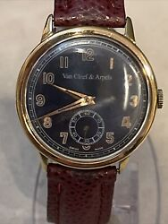 Gents And Blue Dial Gold Filled 17 Jewels Early 1970andrsquos