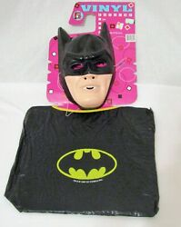 New Vintage Collegeville Batman Dc Comics Halloween Costume And Mask Size Fits All