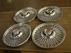 Nos Oem Ford 1963 1964 1965 Falcon + Fairlane 14 Wire Wheel Covers Hub Caps Set