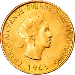 [905856] Coin Luxembourg 20 Francs 1963 Brussels Ms Gold Kmm2b