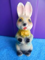 Vintage Easter Bunny Rabbit Chalkware Bank 8 Inches