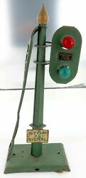 """Scarce Pre Ww2 Large American Flyer Lines """"stop On Signal"""" Track Acessory"""