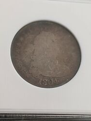 1804 Draped Bust Quarter Low Mintage Of Only 6,738 Coins Key Date☆extreme Rarity