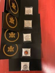 Set Of Five Canada 2013 Pure Fine Silver 10 Coins -certificates Of Authenticity