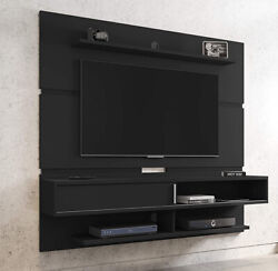 Entertainment Center Black Wall Mounted 71 Tv Stand Floating Storage Cabinet