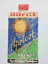 Apricot Brandy - Bofill - Badalona - Spain - 70 Proof - 2 Bottle Labels 1960and039s