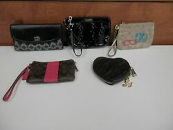 Lot of 5 clutch purses wallets Coach amp; Juicy Couture $59.99