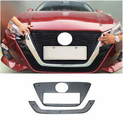 Black Front Bumper Honeycomb Mesh Grill Grille For Nissan Altima Teana 19-2021