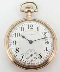 .very Rare 1910 South Bend The Studebaker 21 Jewel Of Cal 229 16s Pocket Watch