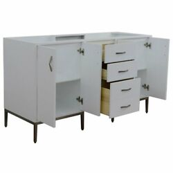 Tivoli 60 Modern Double Solid Wood Vanity In White Cabinet Only