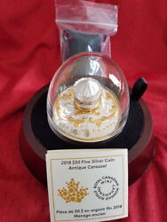 2018 Canada 6 Oz. Pure Silver Gold-plated - Antique Carousel