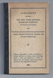 New York Central Railroad Company Agreement Manual 1949 4.25 X 6.5