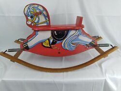 Vintage Cass Toys Wooden Rocking Horse Pony 1940s/50and039s