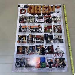 Ultra Rare Obey Giant Timeline Poster Fairey Clothing Make An Offer