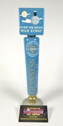 """Guinness Over The Moon Milk Stout Beer Tap Handle 11.5"""" Tall - Excellent"""