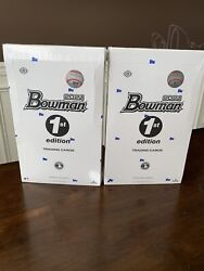 New Sealed Topps 2021 Bowman Baseball 1st Edition Hobby Boxes 2 In Hand
