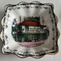 Rosina Charles Dickens Old Curiosity Shop Square Nut Candy Tray England 5 X 5