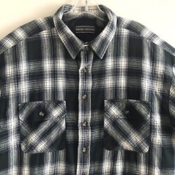 David Taylor Large Shirt Lined Button Down Long Sleeve Jacket Cotton Green White