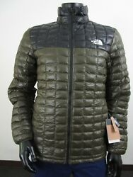Nwt Mens The Thermoball Eco Insulated Fz Puffer Jacket - Taupe