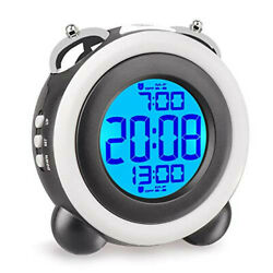 Alarm clock Loud light Bell Double alarm Snooze function LED backlight Dig NEW