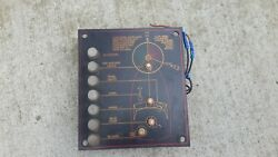 Bayliner Electric Panel Switch Indicator Plate Fuse /dash Instrument Boat