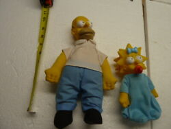 Homer And Maggie Simpson Collectible Dolls 1990 Burger King