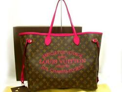 Louis Vuitton Ikat Flower Neverfull Tote Bag Ladies Used Genuine F/s From Japan