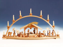 Window Decor Candle Arches Nativity Large Length 30 11/16in New Light Bow
