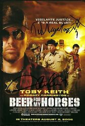 Toby Keith - Ted Nugent - Beer For My Horses - Autograph Signed - One Of A Kind