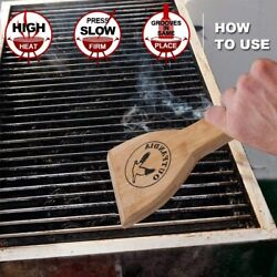 Wooden Bbq Grill Scraper Clean Scraping Tool Hickory Wood For Cleaning Barbeque