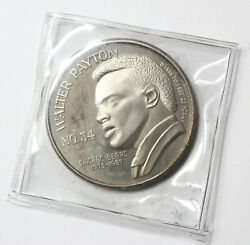 Limited Edition Walter Payton Nfl Rushing Leader 1 Troy Oz. Silver Round 1887