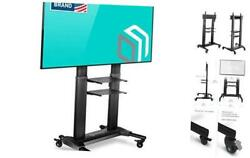 Universal Mobile Tv Stand With Shelves Tv Cart On Wheels For 40andrdquo Andndash 40 - 80
