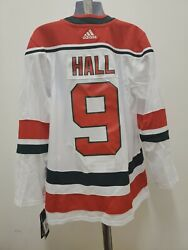 New Adidas Taylor Hall New Jersey Devils Jersey Size 50 White Size Medium