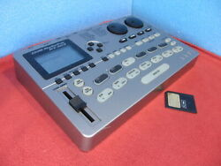 Zoom Rt-323 Rhythmtrak Drum And Bass Machine Initialized Tested Used W/ 8mb Card