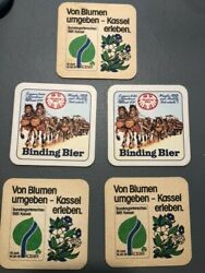 Vintage Binding Bier Coasters New Old Stock Two Sided