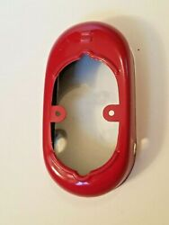 Osaka Japan Tin Toy Institute Large Red Robot Foot 1.75 X 3 Replacement Part