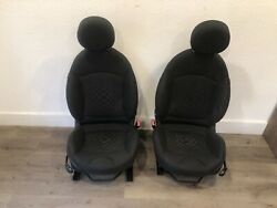 07_2013 Mini Cooper Clubman Front Right And Left Seats Seat Pair Black Oem