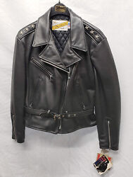 Vintage Schott Nyc Womens 116w Perfecto Motorcycle Jacket Size 18 New