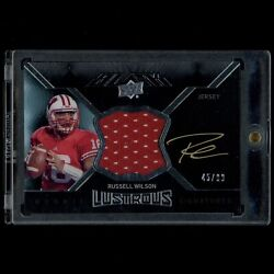 Russell Wilson 2012 Upper Deck Black Rookie Patch Auto /99 Wisconsin Seahawks Rc