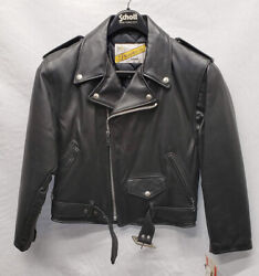 Vintage Schott Nyc Womens 108w Perfecto Motorcycle Jacket Size 8 New