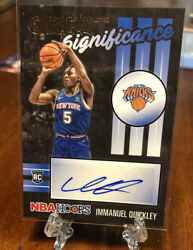 2020-2021 Nba Hoops Immanuel Quickley Great Significance Auto