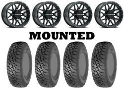 Kit 4 Itp Tenacity Xnr Tires 32x10-15 On Raceline Krank Matte Black Wheels Fxt