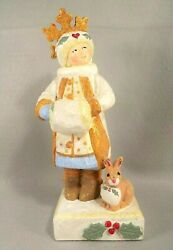 House Of Hatten Winter Solstice Girl Figurine Denise Calla 2002 Collection
