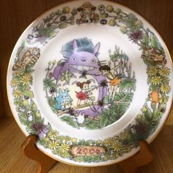 Noritake Rare Yearly Plate 2004 Made In Japan Wooden Stand Totoro