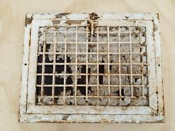Antique Vintage Cast Iron Heating Grate Floor Wall Vent Register Fits 9 X 12