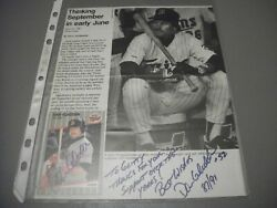 Autographed-dan Gladden--baseball Card And Magazine Picture-wrote To Gladden