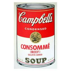 Andy Warhol Soup Can 11.52 Consomme Silk Screen