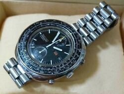 Rare Watch Seiko Slide Rule Chronograph Self-winding Tp-1700 Antique From Japan